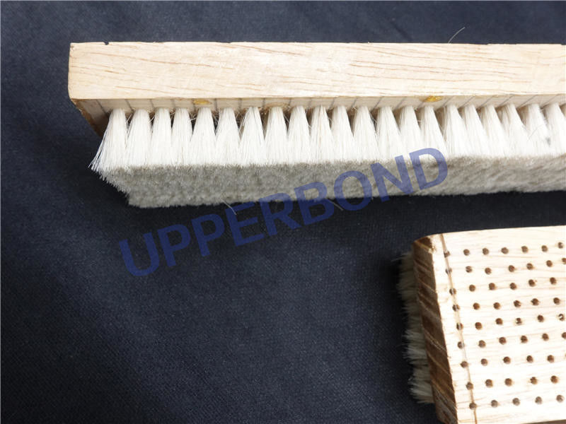 Hinge Lid Packer HLP2 Packing Machine Parts Wooden Bristles Brush Customize
